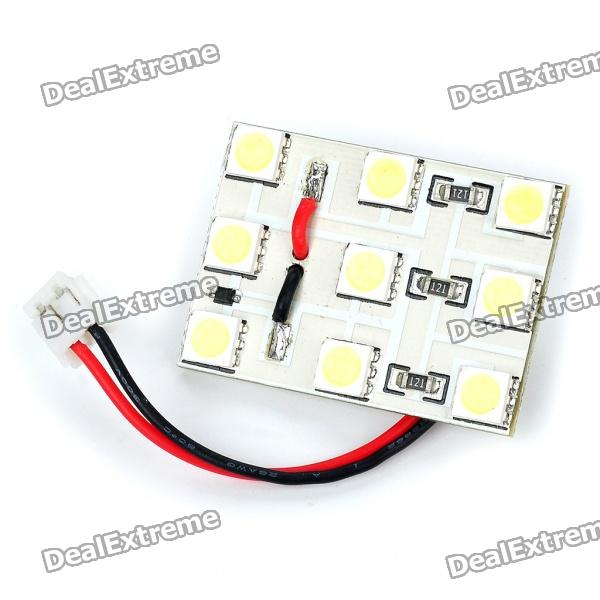 1W 9x5050 SMD LED 145LM 8000K White Car Reading/Dome/Combination Rear Lamp Light (DC 12V) dimming style relay 12v led car drl daytime running lights with fog lamp hole for mazda 3 axela 2014 2015