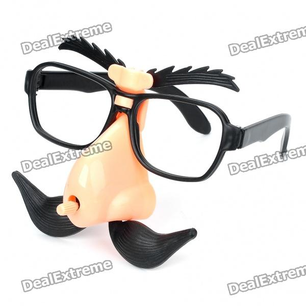 Funny Wind-Up Moving Eyebrows and Mustache Glasses
