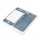 Fashion Protective Jeans Style Skin Stickers for Iphone 4