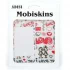 Fashion Protective Love Style Skin Stickers for Iphone 4