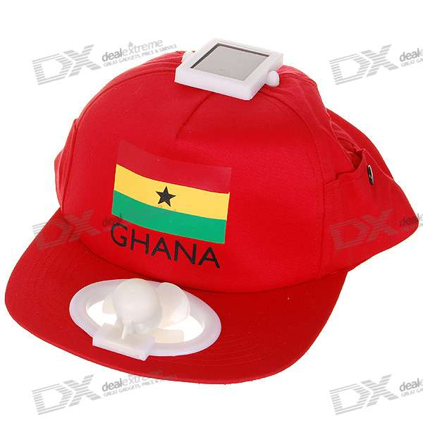 Baseball Cap With Solar Powered Fan Free Shipping