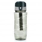 Traveling Daily Sports Water Bottle Cup - Transparent Gray (600ml)