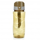 Traveling Daily Sports Water Bottle Cup - Transparent Light Brown (600ml)
