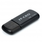 IT-CEO Mini USB 2.0 Flash/Jump Drive - Black (4GB)