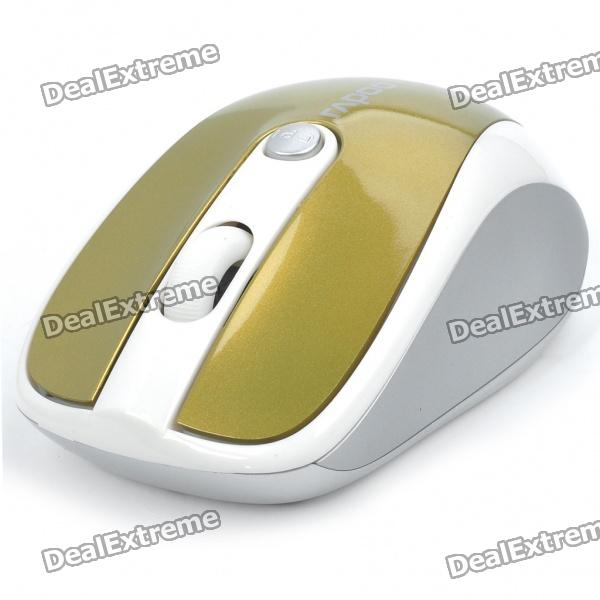 Genuine Rapoo 3100 2.4GHz Wireless 500/1000DPI USB Optical Mouse with Receiver - Golden (2 x AAA) 2 4ghz wireless 500 1000dpi usb 2 0 optical mouse w receiver white 2 x aaa