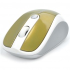 Genuine Rapoo 3100 2.4GHz Wireless 500/1000DPI USB Optical Mouse with Receiver - Golden (2 x AAA)