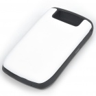 Protective Silicone Case for BlackBerry 8900 - White + Black