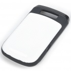 Protective Silicone Case for BlackBerry 9800 - White + Black