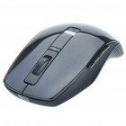 Genuine Rapoo 3710 2.4GHz Wireless 800/1600DPI USB Laser Mouse with Receiver - Black (2 x AAA)