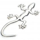 Gecko Style Metal Sticker - Silver