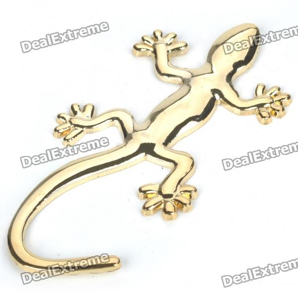 Gecko Etiqueta do estilo do metal - Golden