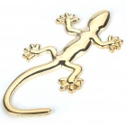 Gecko Style Metal Sticker - Golden
