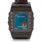 "W200 1.3"" LCD Wrist Watch Style Quadband GSM Cell Phone with GPS/FM - Coffee"