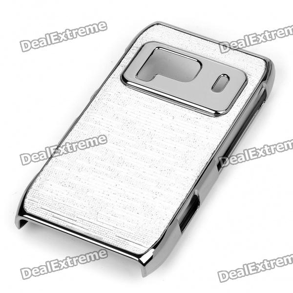 Protective Shining Electroplating Hard Back Case for Nokia N8 - Silver