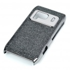 Protective Shining Electroplating Hard Back Case for Nokia N8 - Black