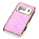 Protective Shining Electroplating Hard Back Case for Nokia N8 - Pink