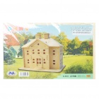 Woodcraft DIY Model 3D Puzzle Toys - Country Mansion