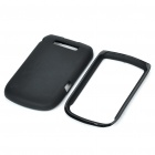 Protective PVC Back Case Cover for Blackberry 9800 - Black