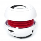 Mini Fashion Portable USB Rechargeable MP3 Player Speaker with TF Slot - White