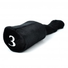 Protective Golf Club Head Covers Set - Black (3-Pieces Pack)