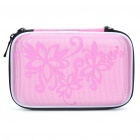 "Protective Hard Shockproof Bag Case for 2.5"" Hard Disk Drive - Pink"