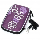 "Protective Hard Shockproof Bag Case for 2.5"" Hard Disk Drive - Purple"