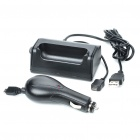 USB Charging Dock Cradle + Car Charger Set for Samsung i9000 Galaxy S (DC 12~24V)