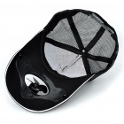 Stylish Hat/Cap with Solar Powered Cooling Fan (Black)
