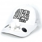 Stylish Hat/Cap with Solar Powered Cooling Fan (White)