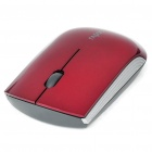 Genuine Rapoo 1200 2.4GHz Wireless Optical Mouse 1000 dpi USB w / Empfänger - Rot (1 x AA)