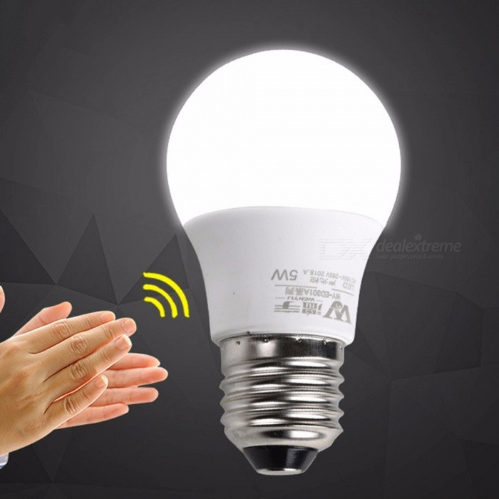 White5wwhite Led Bulb Light Motion Sound Lamp5w Pir Sensor Automatic E27 Control Emergency And Cold nw8OP0k