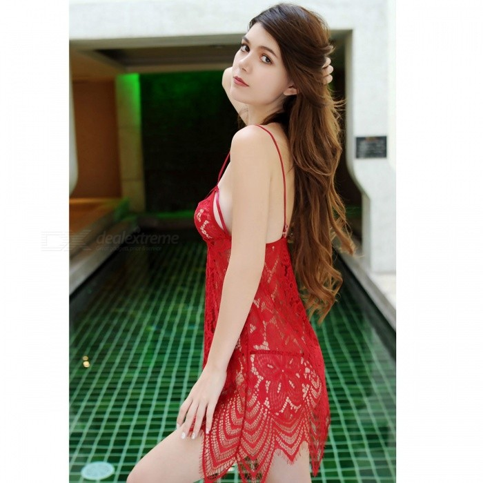 24d0f5342e ... Sexy Lingerie Underwear Women  s Hot Dress SM Backless Sling Lace  Babydoll Chemise Sexy ...