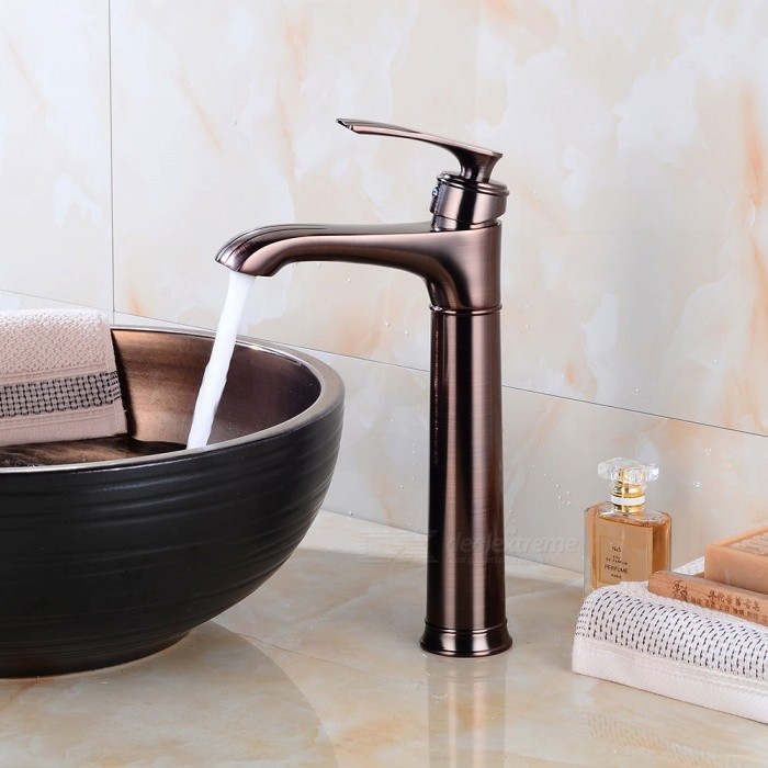 Br Waterfall Oil Rubbed Bronze Ceramic Valve One Hole Bathroom Sink Faucet W Single Handle
