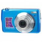 "8.1MP CMOS Compact Digital Video Camera w/ 3X Optical Zoom/SD Slot - Blue (2.7"" TFT LCD)"
