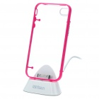 USB Sync & Charging Docking Station Cradle + Protective Case for iPhone 4 - Pink