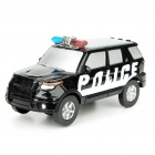Solar Energy/Battery Power Police Car Educational Toy - Color Assorted