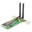 802.11b/g/n 300Mbps PCI-Express Wireless Adapter with Dual Antenna
