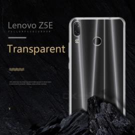 Full Coverage Ultra Thin Soft Clear Transparent TPU Protective Phone Case Cover For Lenovo Z5 Clear/TPU