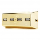 Gold Bullion Bar Shaped USB 2.0 4-Port Hub