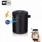 Bluetooth Speakers Wireless Mini Video Recorder Camera With Motion Detection, Real-Time View, Nanny Cam For Indoor Home Black
