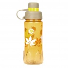 Flower Pattern Traveling Sports Water Bottle Cup with Filter - Color Assorted (600ml)