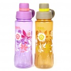 Flower Pattern Traveling Sports Water Bottle Cup with Filter - Color Assorted (800ml)