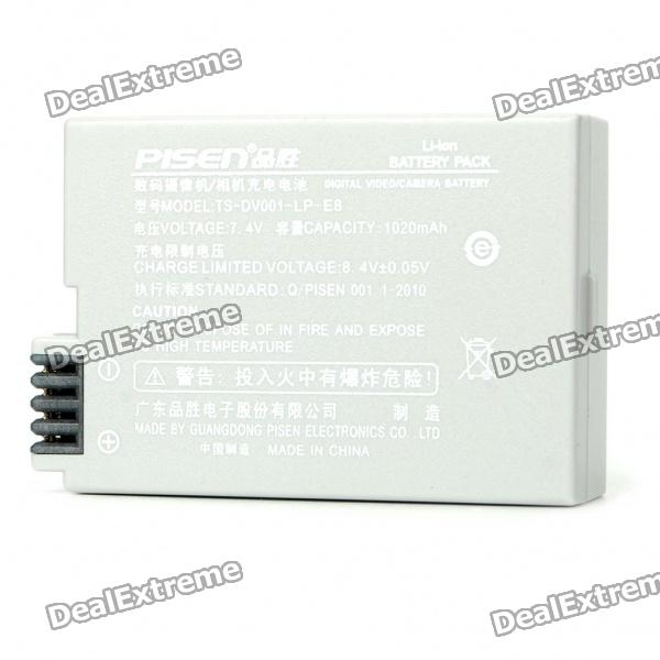 Replacement LP-E8 Compatible 7.4V 1020mAh Battery Pack for Canon EOS 550D