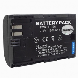 Replacement LP-E6 Compatible 7.4V 1800mAh Battery Pack for Canon EOS