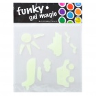 Glow-in-the-Dark Soft Resin Sky Sea and Land Stickers