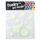 Glow-in-the-Dark Soft Resin Galaxy Stars and Planets Stickers