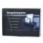 "Dual HDD Docking Station with One Touch Backup for 3.5"" SATA HDD - Black"