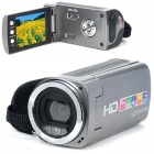 720P HD 3MP CMOS Compact Digital Video Camera w/ 4X Digital Zoom/AV OUT/SD Slot - Grey(2.7