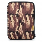 "Stylish Protective Soft Bag with Dual-Zipped Close for 10"" Laptop Notebook - Camouflage Brown"