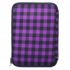 "Stylish Protective Soft Bag with Dual-Zipped Close for 10"" Laptop Notebook - Black + Purple"